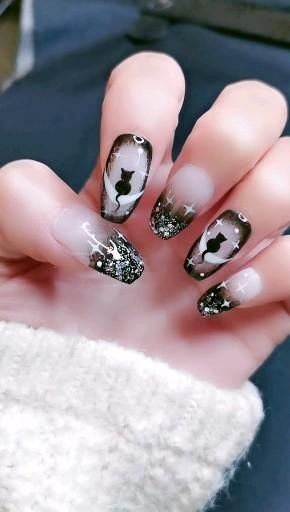 Cute Cat nail design