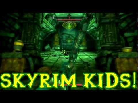 Skyrim Kids Fight The Spit Bugs! #skyrim #highlights