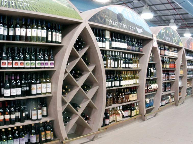 Category design #Supermarket #Hypermarket . Wine & Beer Category. Concept, Planning, Production מחלקת יין, משקאות אלכוהוליים ובירה. קונספט, עיצוב, תכנון וביצוע סופרמרקט