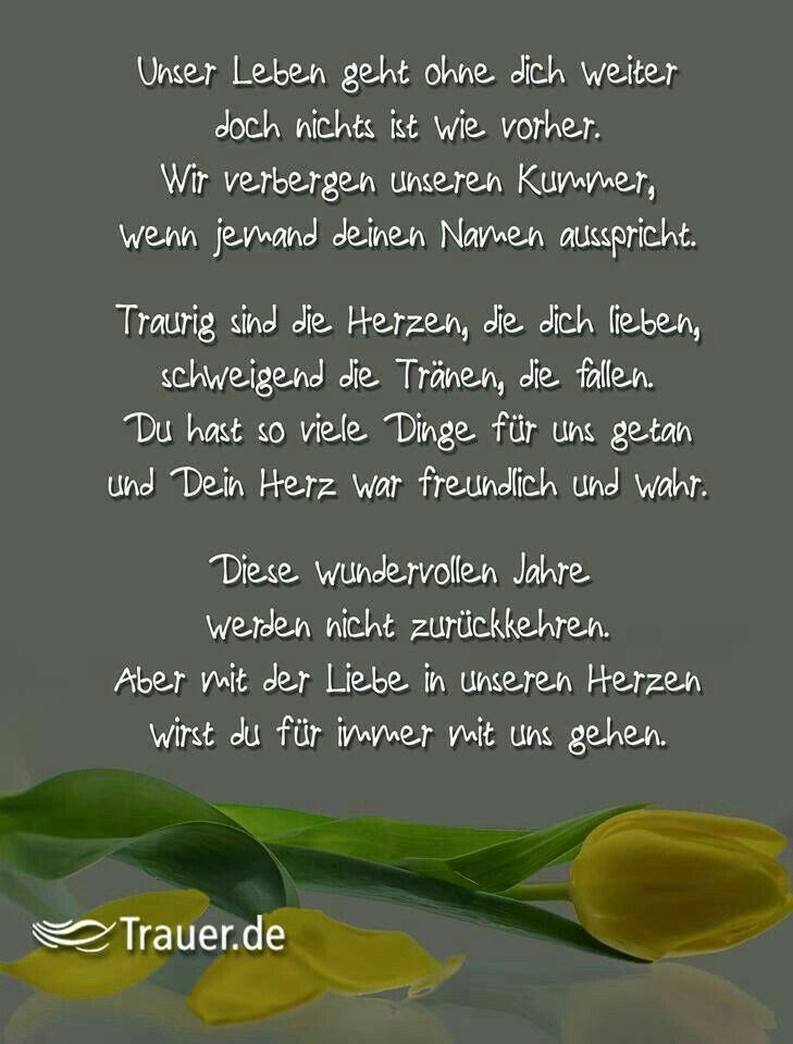 Pin von Ketteljacky auf Andenken | Gedichte trauer