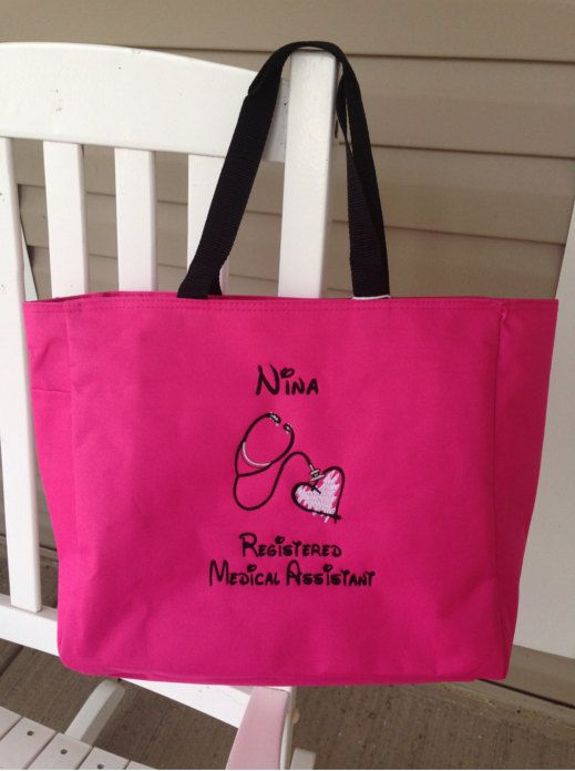 Personalized Tote Bag Nurse Physician Medical By Embroiderybybeth1