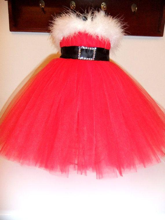 f977ec4e00 Girls Toddler Mrs Miss Santa Claus Baby Christmas empire waist ...