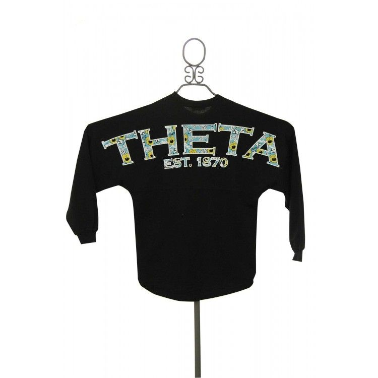 Kappa Alpha Theta Preppy Spirit Football Jersey in White available now from ThetaStore.com.