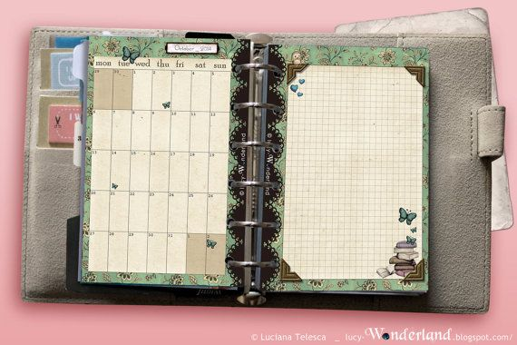 1month on 1page_ dated for Filofax POCKET ... jun 2014 - dec 2015 ...  #filofax #filofaxprintables #monthataglance #filofaxpoket