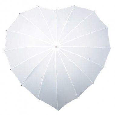 Valkoinen Sydän sateenvarjo Tilaa täältä