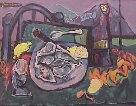 Still Life with Oysters, c 1958. Abraham Rattner