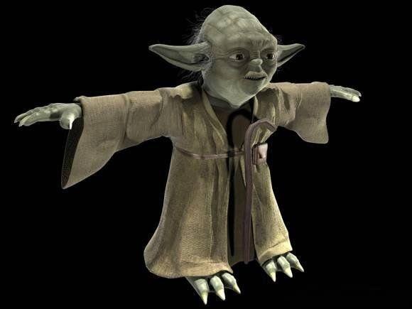 Yoda rigged 3D Model  max  c4d  obj  3ds  fbx  lwo  stl @3DExport
