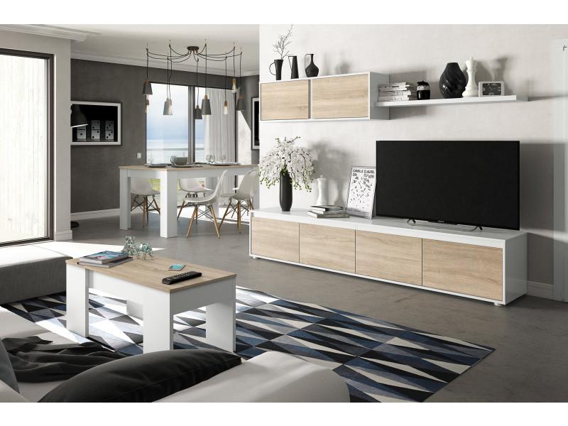 ensemble meuble tv scandinave alina