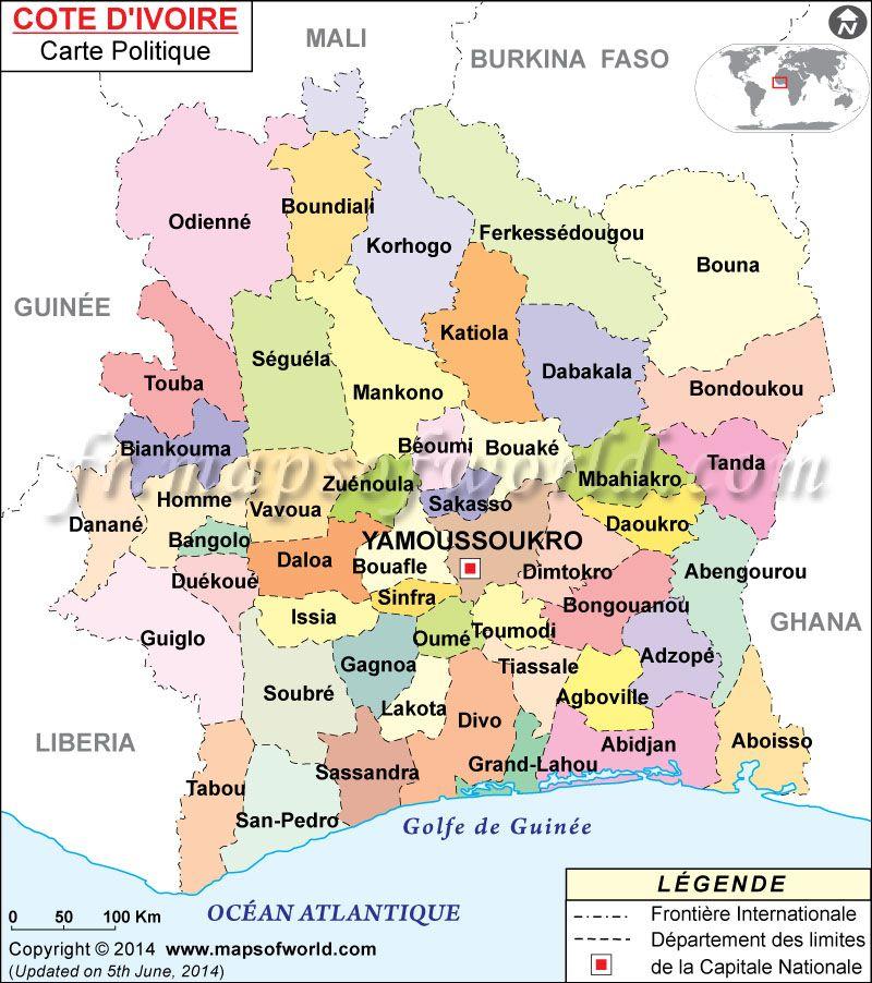 Carte De La Cote D Ivoire Ivoire Carte Cote D Ivoire