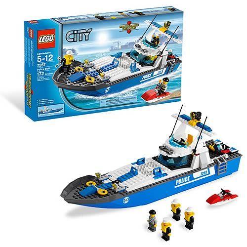 Lego Police Boat 7287 Lego Police Lego City Lego City Police