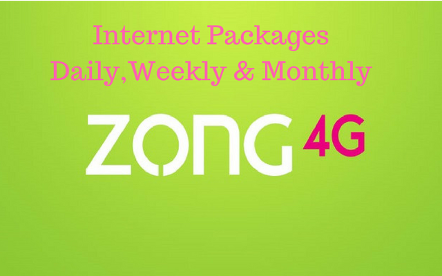 Zong 4g Weekly Internet Packages In Pakistan Internet Packages 4g Internet Internet
