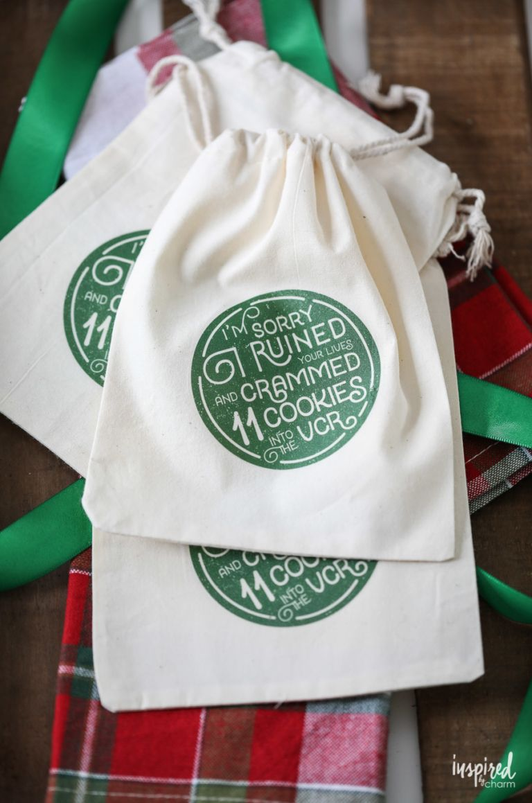 DIY Christmas Cookie Bags with Printable Download #cookiepackaging