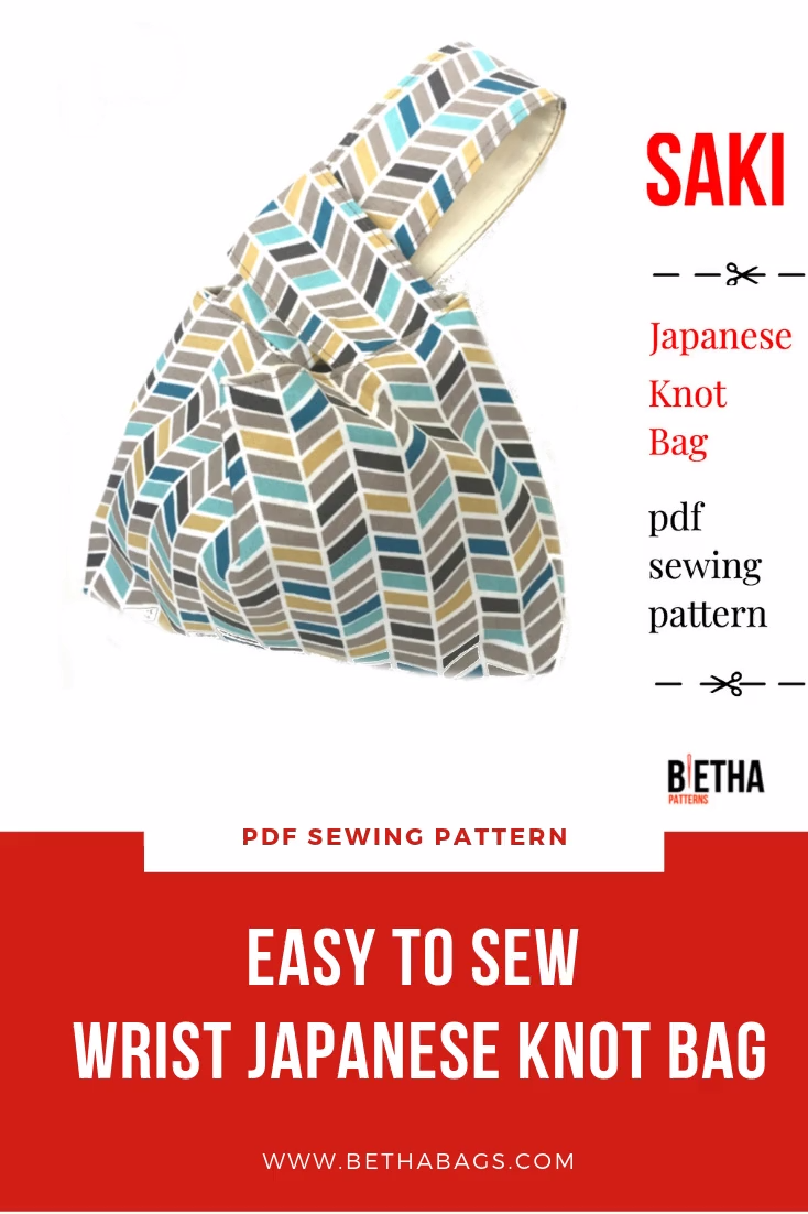 Photo of Easy to sew: Wrist Japanese Knot Bag