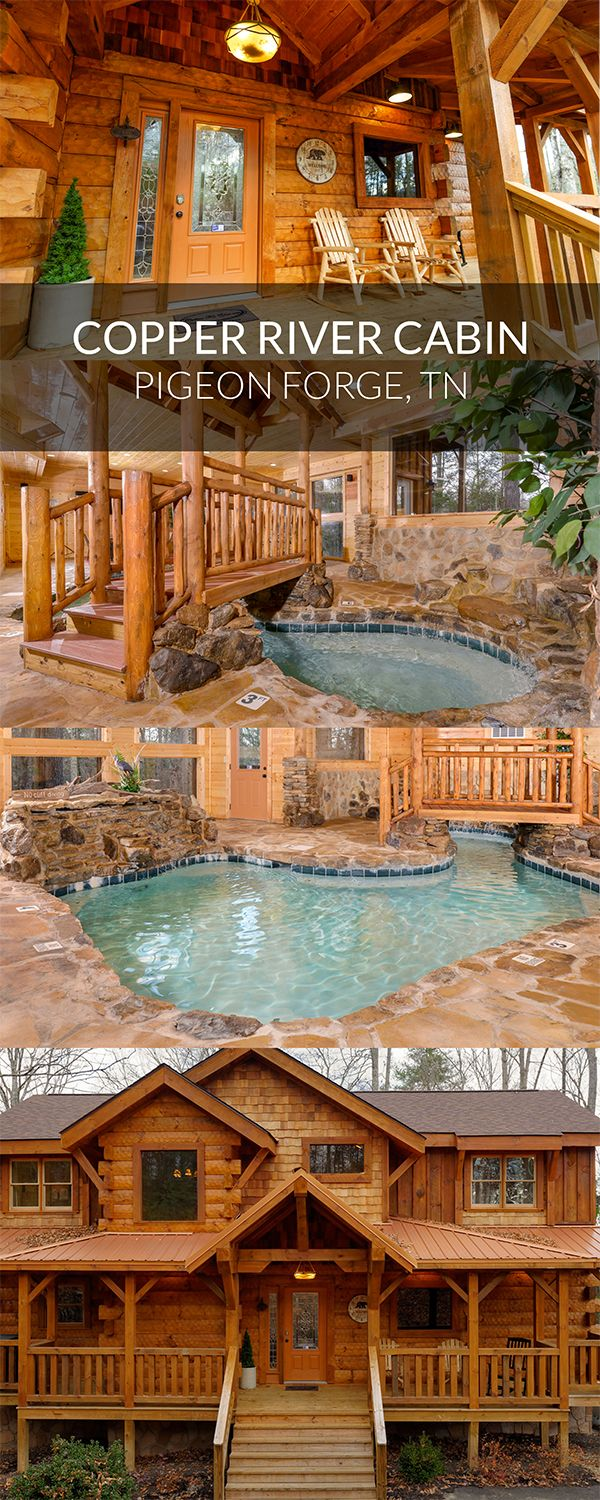 A Luxurious Cabin Retreat In The Mountains Featured Cabin Copper River Gatlinburg Tennessee Pig Cabin Trip Smokey Mountains Vacation Tennessee Vacation