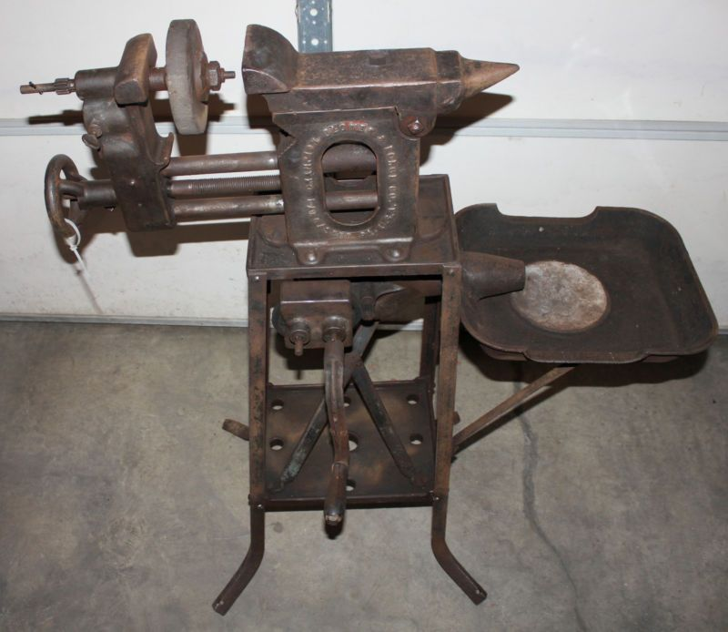 champion forge blower. 1920 champion blower forge anvil vice portable combination vintage/antique n