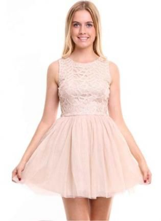Fit and Flare Tutu Dress,  Dress, fit and flare  dress  sleeveless  tutu, Chic #fitandflare #tutu #cute #cocktail #dress #love #obsessed #ootd #fashion #style #summer www.UsTrendy.com