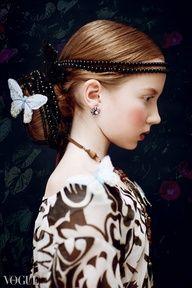 Renaissance portrait style and fashion meets modern