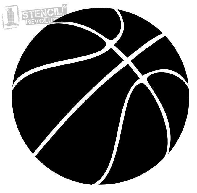 Download Your Free Basketball Stencil Here Save Time And Start Project In Minutes Get Printable Stencils For Art Designs