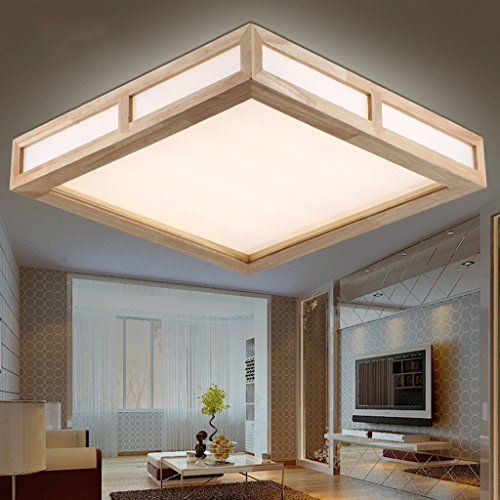 Electro bpmodern simple wood art ceiling lights acrylic led flush mount light max 18w with