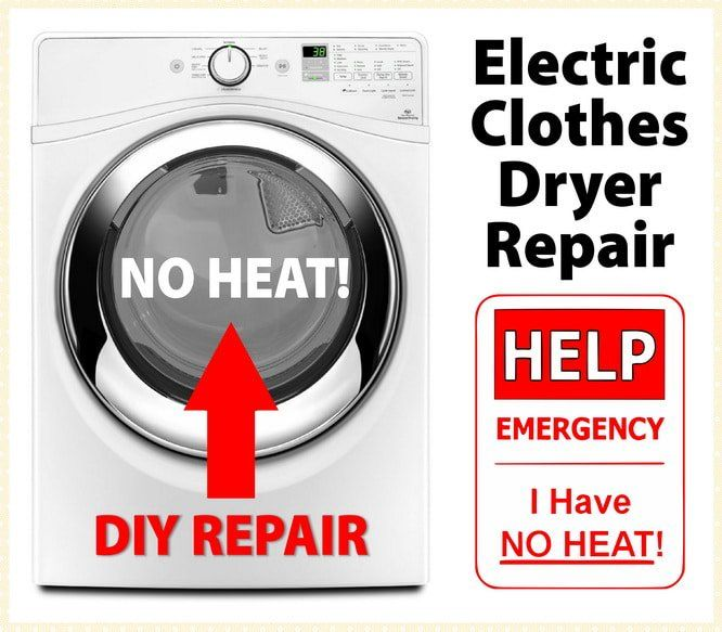 Electric Clothes Dryer Not Heating Fix