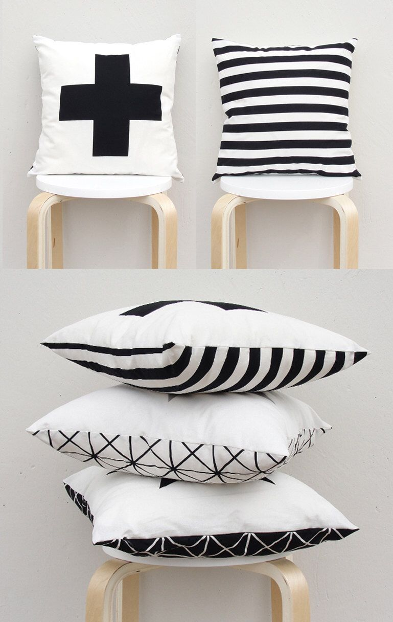 Double sided pillow big plus sign pillow swiss cross