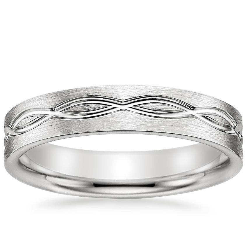 Infinity Men's Wedding Ring Bague mariage et Bagues