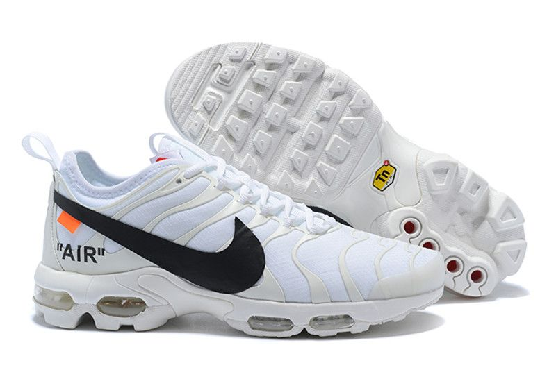 Off White Nike Air Max TN Womens Shoes White Black on www