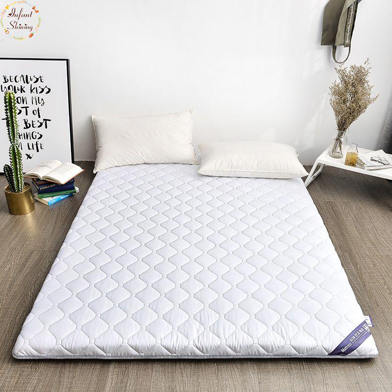 Infant Shining 5cm 100 Cotton Mattress Double Bed Mat Tatami Mattress Multi Size Anti Skid Mattress Student Dormi Double Bed Mattress Mattress Cotton Mattress