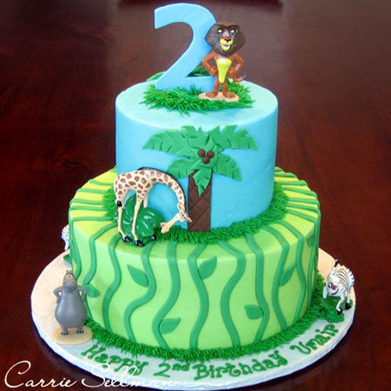 Madagascar Escape 2 Africa Safari Birthday Cakes First