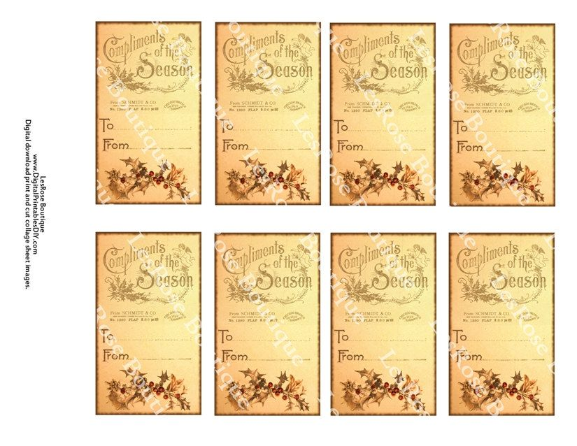 Free vintage printable christmas gift tags vintage christmas free vintage printable christmas gift tags vintage christmas gift tags old fashioned compliments of negle Gallery