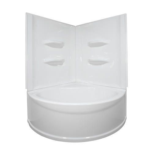 Bath 3 Lyons Sea Wave V 48 X 48 X 20 White Center Drain Corner