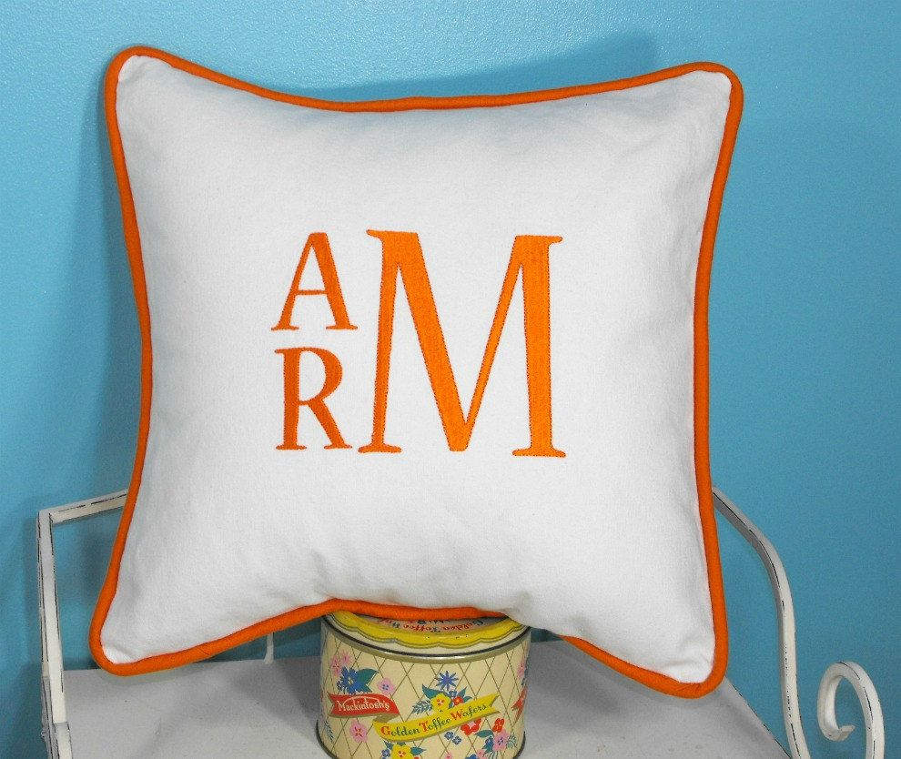 pillow shade hugerect monogrammed personalized anniversa product cover name couple case initial