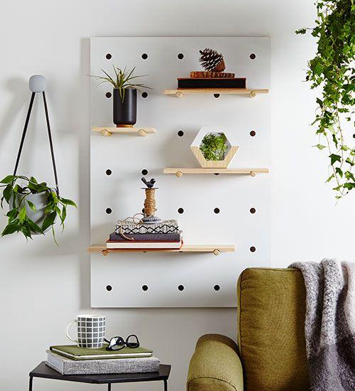 Kmart Ideas Inspiration Hub Kmart Decor Decor Peg Board Shelves
