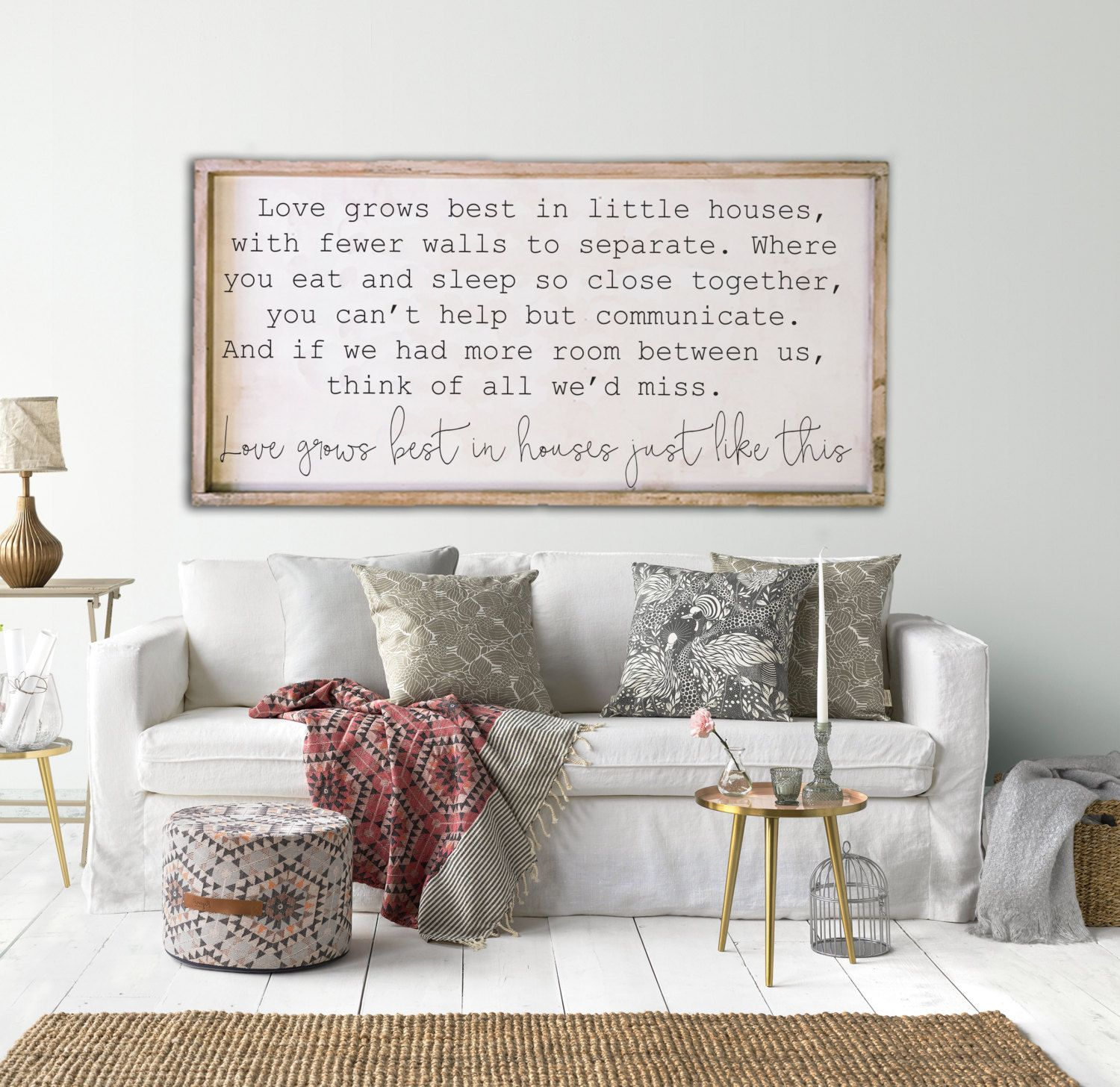 Love grows best in little houses, 24x48, Framed wood sign | RVing ...