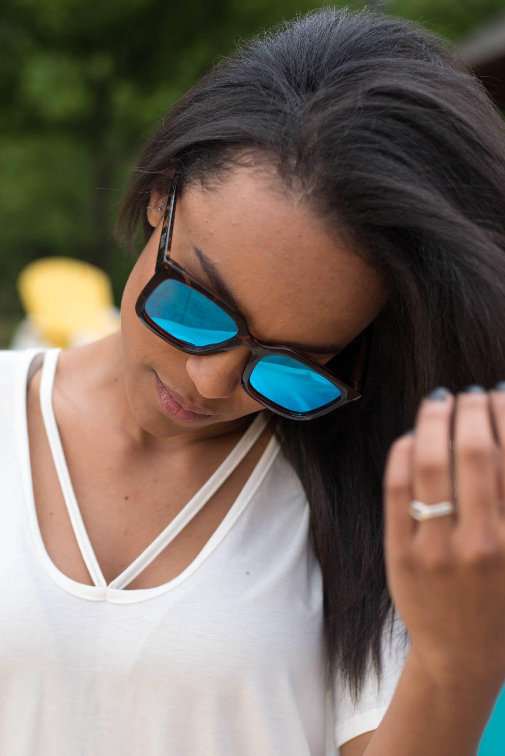 f9f4e8b5697 Quay Genesis sunglasses tort blue mirror from Lush Fashion Lounge ...