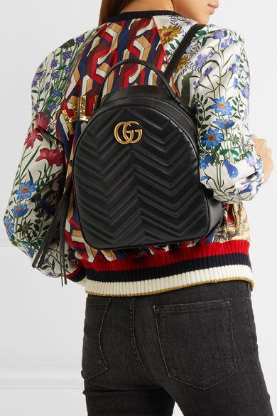 b965aad038 Gucci - Gg Marmont Quilted Leather Backpack - Black
