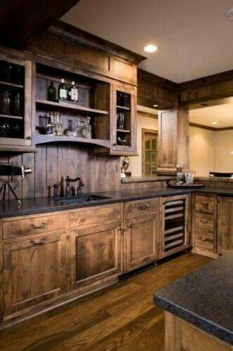 Rustic kitchen design ideas western kitchen westerns for Western kitchen cabinets