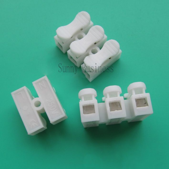 20Pcs 3 pin 2pin push quick cable connector terminal Wiring Terminal ...