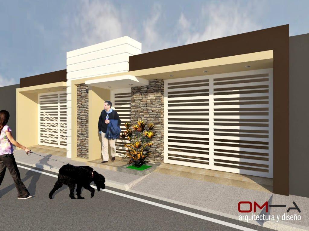 Dise o de fachada de vivienda pareada casas de estilo por for Viviendas estilo minimalista