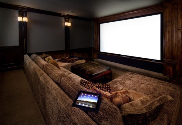 35 Modern Media Room Designs That Will Blow You Away Home Theater Room Design Home Theater Rooms Home Cinema Room