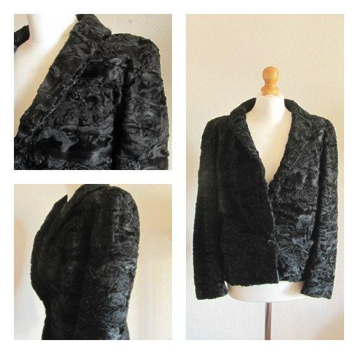 Chaqueta  vintage astracán/chaqueta por SraBogalusaVintage en Etsy