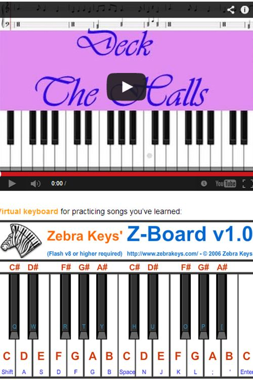 Learn To Play Deck The Halls With This Virtual Piano Http Www