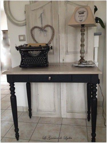 Table Noire Patinee Www Legrenierdelydia Com Patine Sur Meubles Val D Oise Mobilier De Salon Deco Maison Meuble Deco