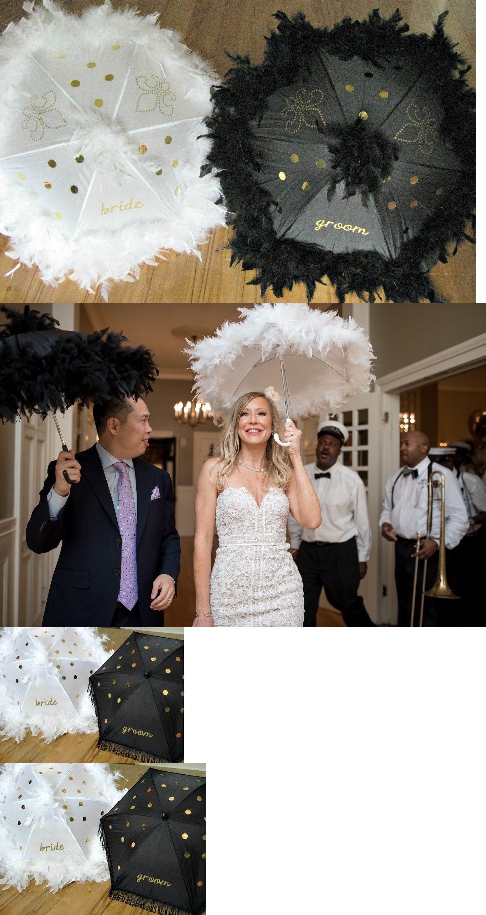 Fans And Parasols 163553 Second Line Umbrellas Bride And Groom Wedding Parasol Set From New Orleans Buy It Now Only 9 Parasol Wedding Wedding Groom Bride
