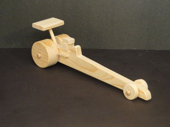 Coche de carreras de Dragster (03) | A-Woodworking | Wooden toys