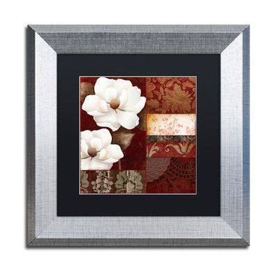 Trademark Art 'Flores Blancas III' by Color Bakery Framed Graphic Art