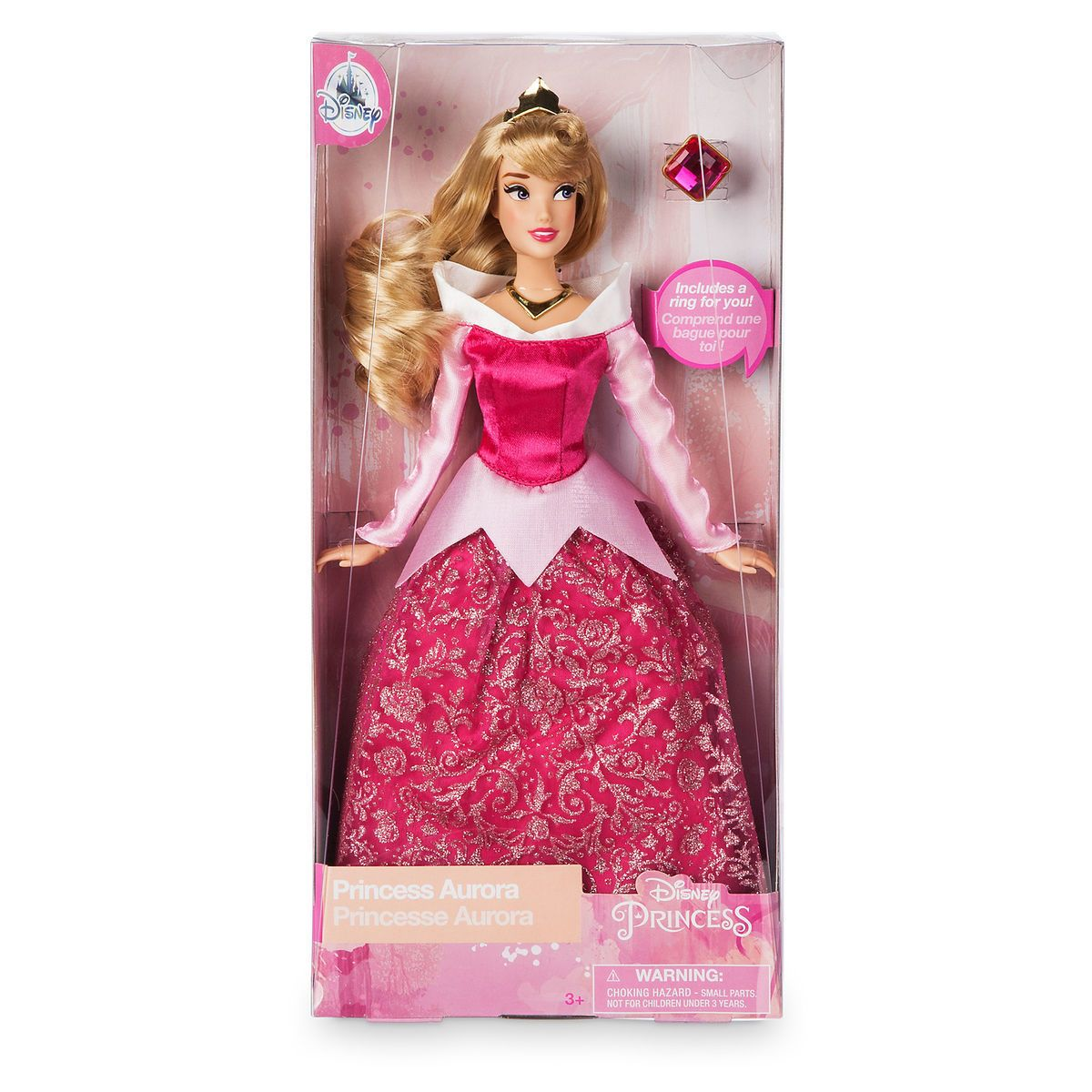 Disney Sleeping Beauty Aurora Doll With Squirrel Figure New in Box