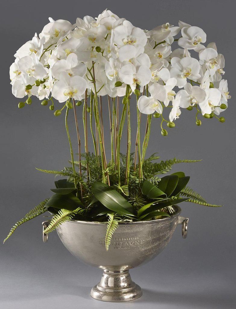 Stylowe Dodatki Dekoracyjne Do Domu Tendom Pl Amigurumihouse Orchid Flower Arrangements Faux Floral Arrangement Orchids