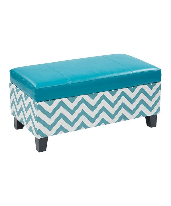 Awe Inspiring Look At This Blue Zigzag Storage Ottoman On Zulily Today Squirreltailoven Fun Painted Chair Ideas Images Squirreltailovenorg