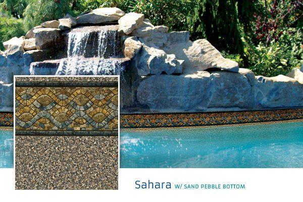 2017 Loop Loc Liner Options Premier Pool Spa Sahara With Sand Pebble Bottom Vinyl